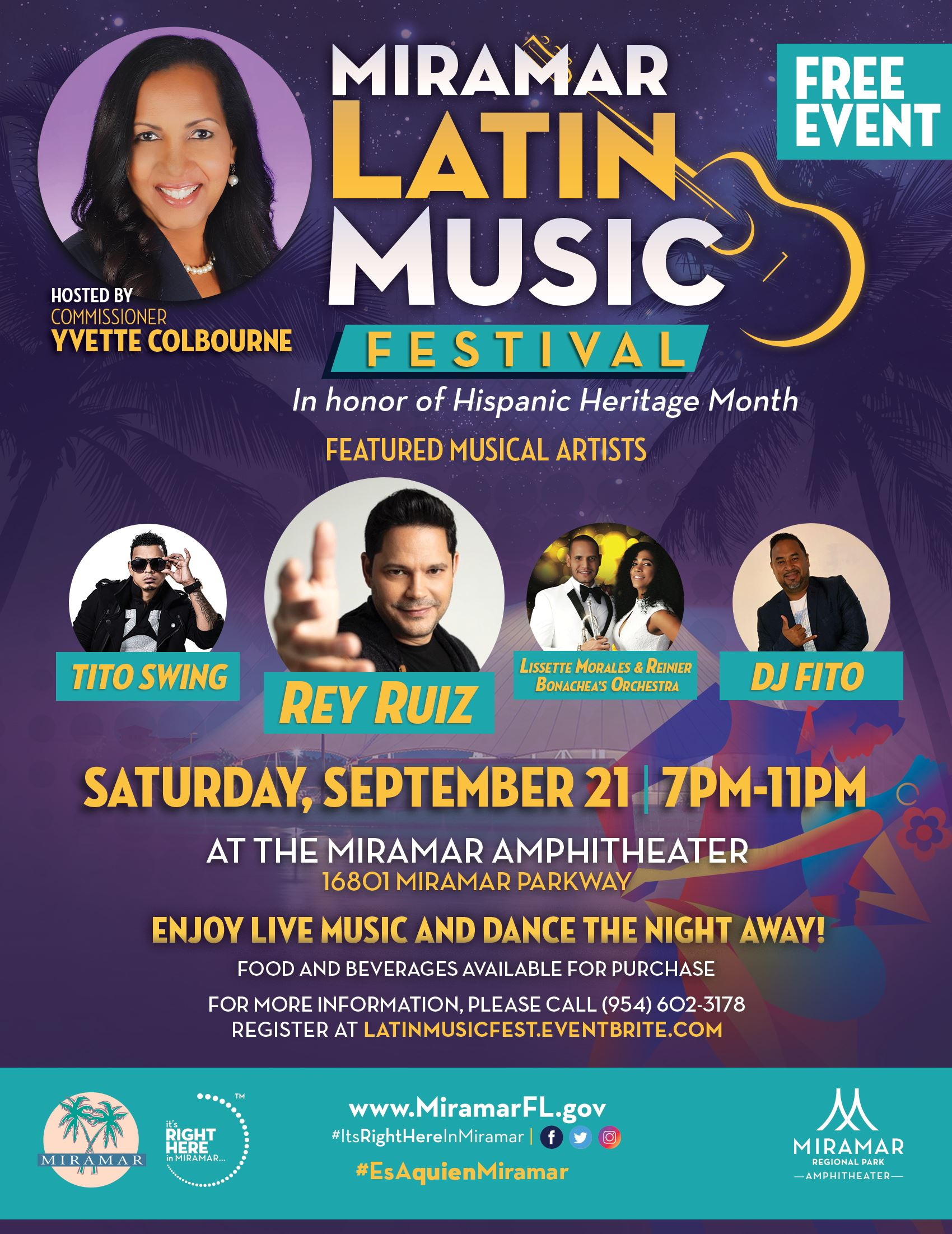 Latin Music Festival Flyer