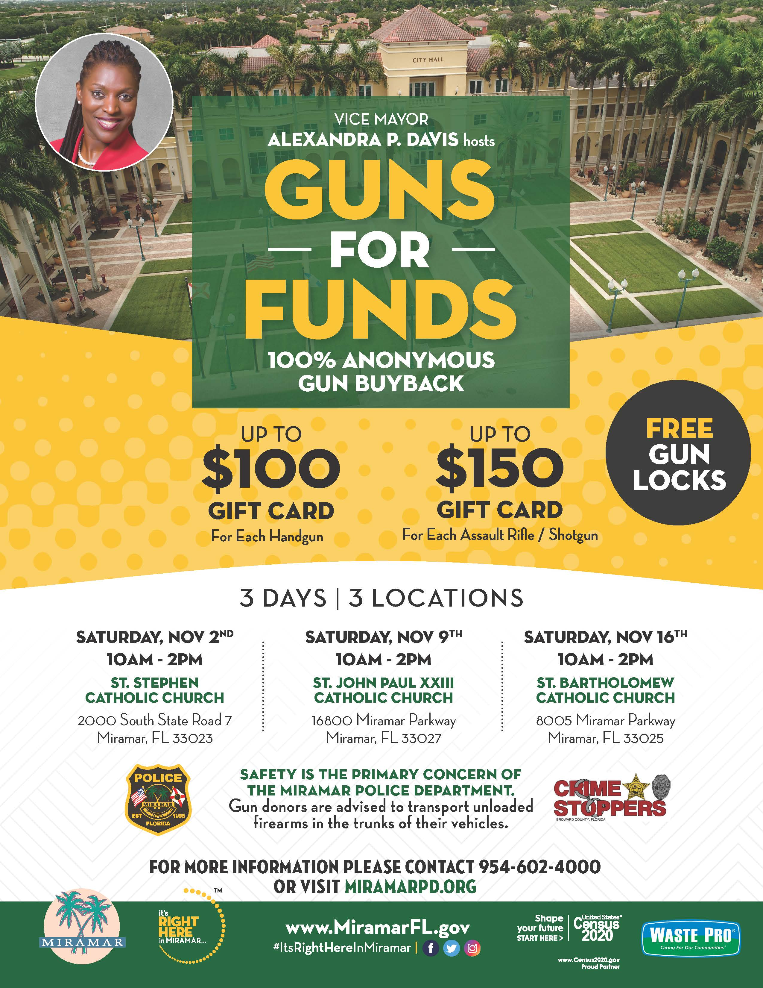 Guns For Funds Flyer