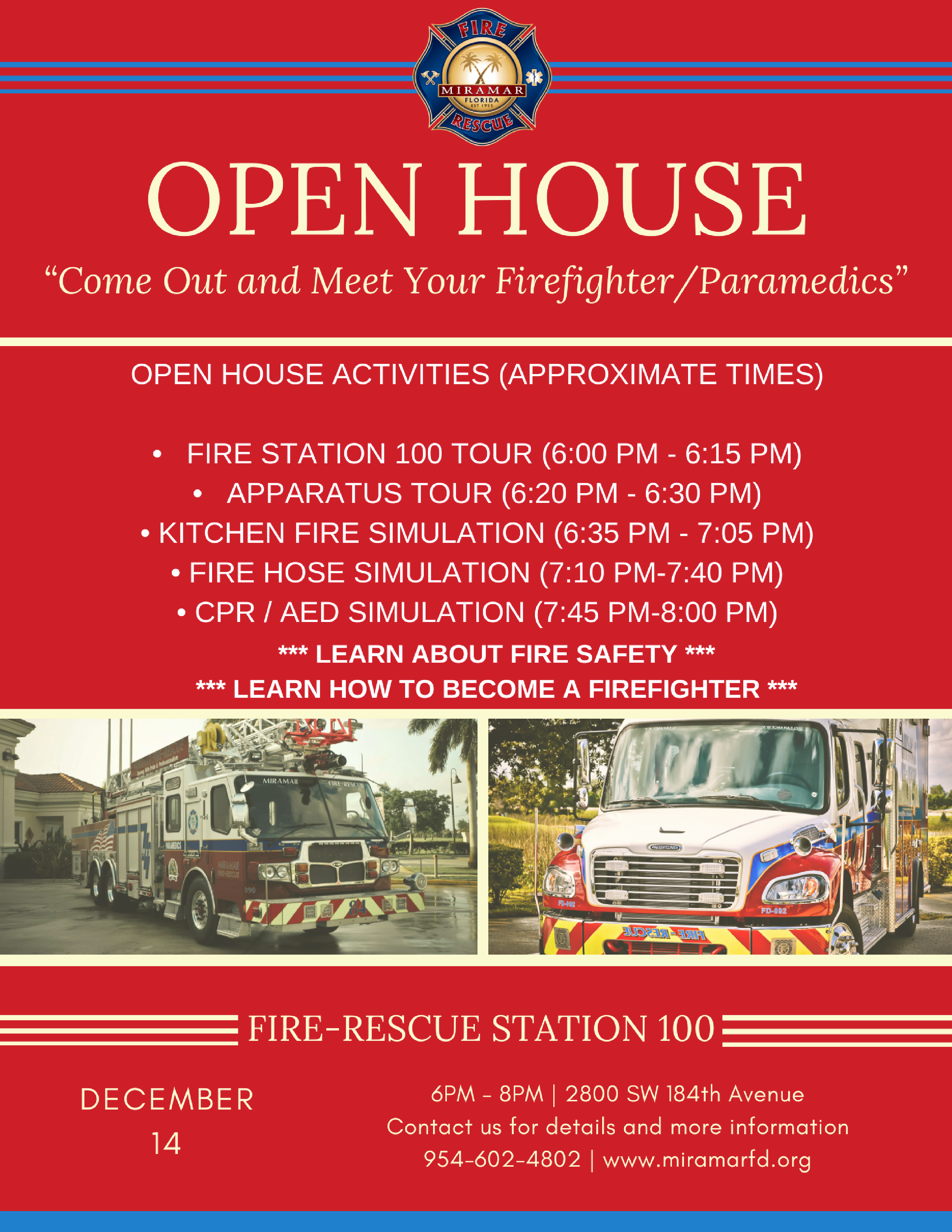 Open House Flyer Station 100