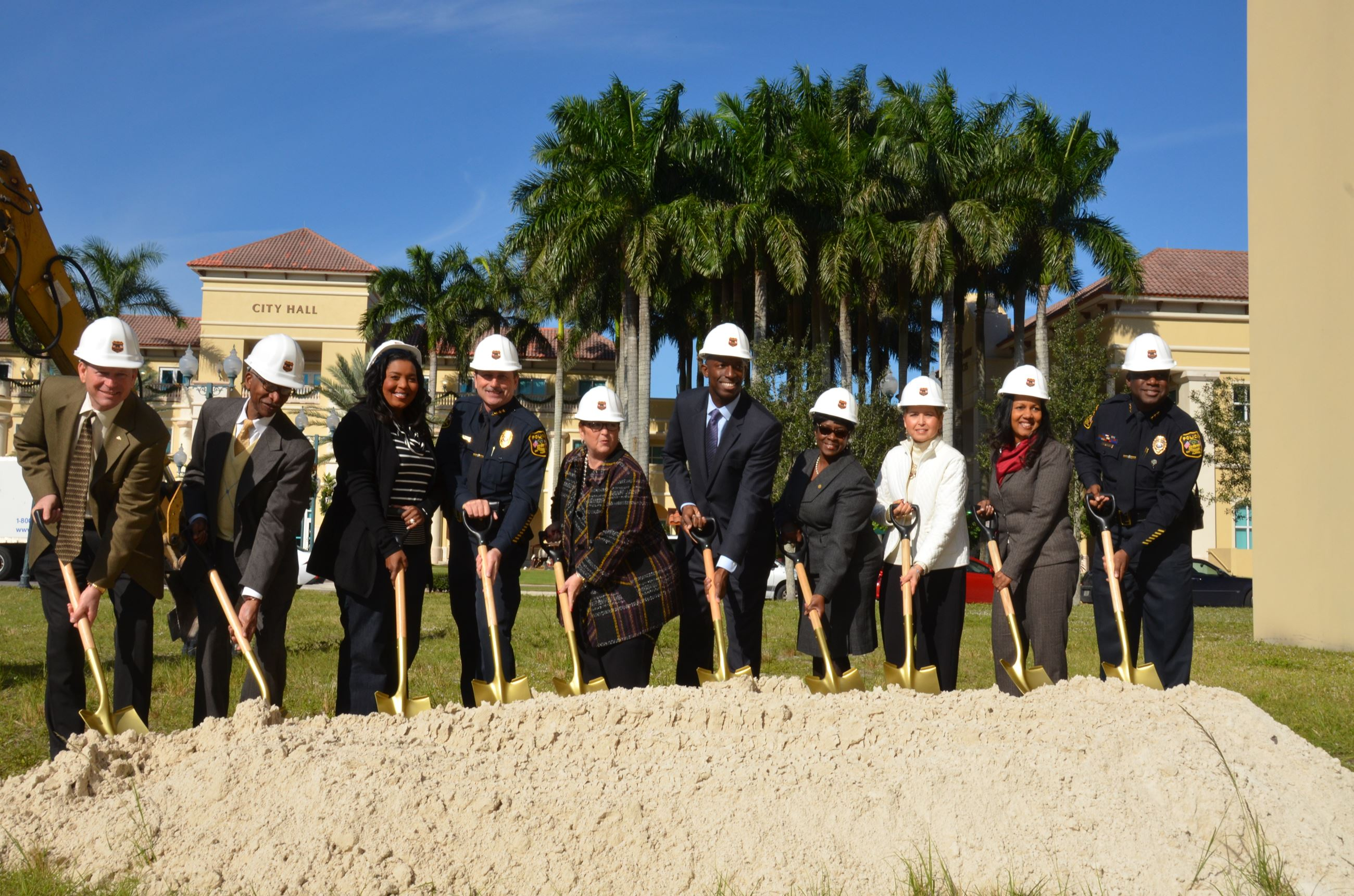 Miramar Police Headquarters Groundbreaking